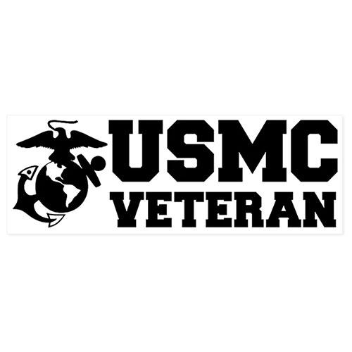 USMC Veteran Clear Decal
