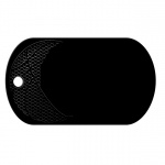 Basketball Black Dog Tag