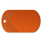 Basketball Orange Dog Tag