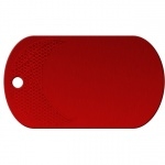 Basketball Red Dog Tag