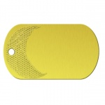 Basketball Yellow Dog Tag