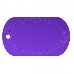 Football Purple Dog Tag