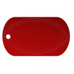 Football Red Dog Tag