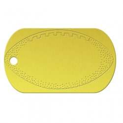 Football Yellow Dog Tag
