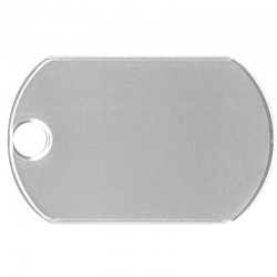 Large Matte Dog Tag