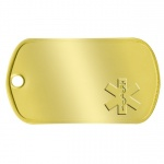 Brass Medical Asklepian Tag