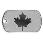 Canada Maple Leaf Dog Tag