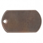 Rusty Steel Dog Tag