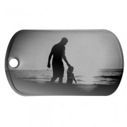 Dad with Kid Dog Tag
