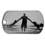 Dad with Kids Dog Tag