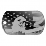 USA Eagle Dog Tag