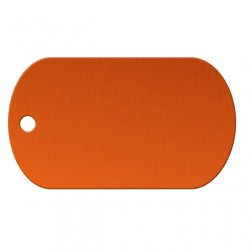 Orange Aluminum Dog Tag