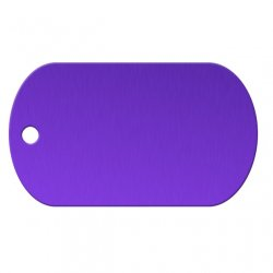 Purple Aluminum Dog Tag