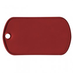 Red Aluminum Dog Tag