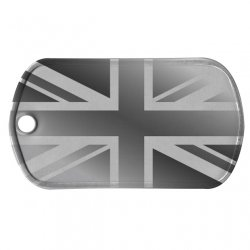 UK Flag Dog Tag