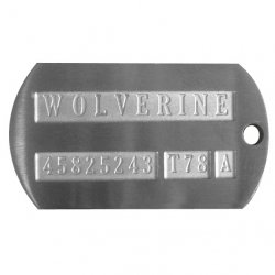 Weapon-X Wolverine Dog Tag