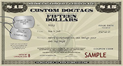 Dogtag Gift Certificate