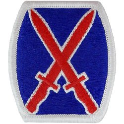10th Mountain Division Patch