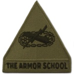U.S. Armor School Patch (subdued)