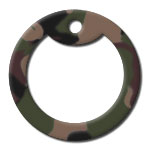 Forest Camo Dog Tag Silencer