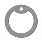 Grey Dog Tag Silencer