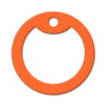 Orange Dog Tag Silencer