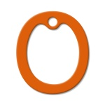 Orange Latex Dog Tag Silencer