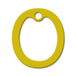 Yellow Latex Dog Tag Silencer