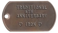 6th Anniversary Iron Spouse Dog Tags - TRADITIONAL 6TH ANNIVERSARY  ♥ IRON ♥