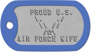 Air Force Wife Dogtags    PROUD U.S.     \.   ./      \\ //       /s\ AIR FORCE WIFE