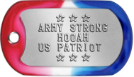 Army Dog Tags - ★ ★ ★ ARMY STRONG HOOAH US PATRIOT ★ ★ ★