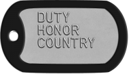 Army Dog Tags - DUTY HONOR COUNTRY