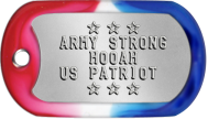 Army Dogtags - ★ ★ ★ ARMY STRONG HOOAH US PATRIOT ★ ★ ★