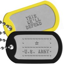 US Army ASCII Logo Dog Tag