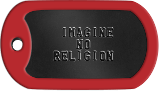 Atheist Dogtags      IMAGINE       NO    RELIGION