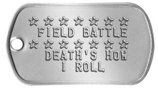 Field Battle Dogtags ★ ★ ★ ★ ★ ★ ★  FIELD BATTLE ★ ★ ★ ★ ★ ★ ★   DEATH