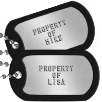 Boyfriend Dogtags -  PROPERTY OF LISA