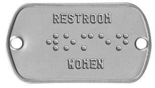 Braille Sign    RESTROOM  ⠺⠕⠍⠑⠝      WOMEN