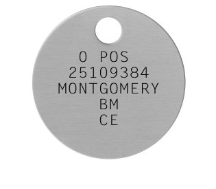 British Military Dogtags    0 POS  25109384 MONTGOMERY     BM     CE