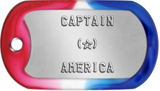 Captain America Dog Tags     CAPTAIN        (★)      AMERICA