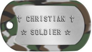 Christian Soldier Dog Tags  ✝ CHRISTIAN ✝   ★ SOLDIER ★