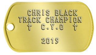 CYO Dog Tags   CHRIS BLACK TRACK CHAMPION   t  C.Y.O  t              2019