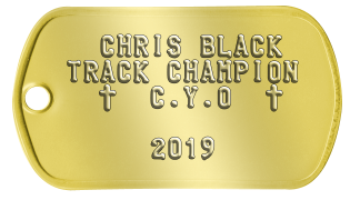 CYO Dogtags   CHRIS BLACK TRACK CHAMPION   t  C.Y.O  t              2018