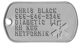 Image result for medical id dog tags