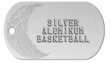 Basketball Silver Dog Tag