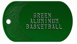 Basketball Green Dog Tag