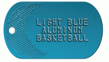 Basketball Blue Dog Tag