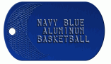Basketball Navy Dog Tag