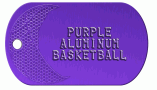 Basketball Purple Dog Tag