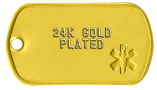 24K Gold Plating of Tags